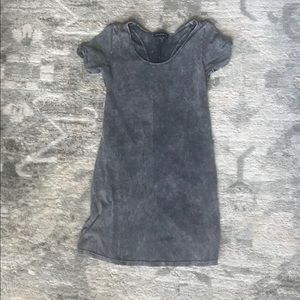 Stylestalker Grey stonewashed dress